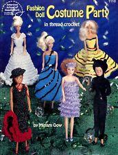 ASN FASHION DOLL COSTUME PARTY IN THREAD Crochet Miriam Dow