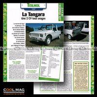 #hvf.63.04 TEILHOL TANGARA 1987 Car Fiche Auto