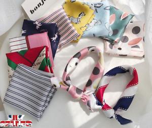 Fashion Women Square Silk Feel Satin Small Vintage Hair Tie Band Head Neck Scarf