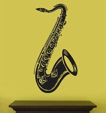 "Vinyl Wall Decal Sticker Saxophone instrument 20""x41"""