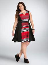 Torrid Striped Scuba Skater Dress, Size 2, Brand New