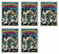 (5) 1989 Topps K-Mart Dream Team Baseball #5 Jay Buhner Lot Mariners