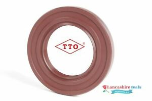 TTO 85x100x9mm Oil Seal Viton Double Lip R23 TC Stainless Steel Spring