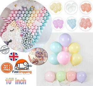"25 PACK LATEX Pastel Finish 10"" INCH Round HELIUM Balloons Buy 2 Get 1 Free UK"