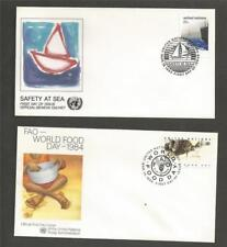 UNITED NATIONS - 5  1980,s   FIRST DAY COVERS.
