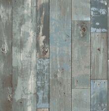 Rasch Textil Restored 024053 Vlies Tapete Holz Optik Vintage blau grau