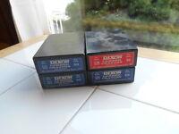 Lot 4 Vintage NOS Dixon Lumber Crayons Dozen Boxes 36 Blue 521 12 Red 520 NIB