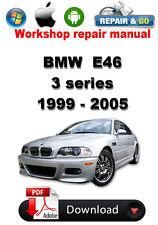 BMW E46 1999-2005  Workshop Repair Manual