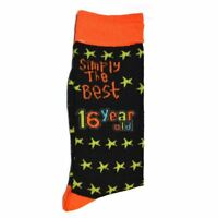Simply The Best Age 16 Year Old Socks 16th Birthday Gifts Boys Girls Unisex