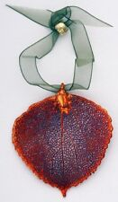 Leaf Ornament - Aspen, Iridescent - Made with Real Leaf