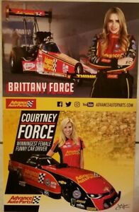 Lot Of 2 Courtney and Brittany Force NHRA Handouts Advance Auto Fast Shipping