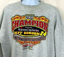 2001 Champion Jeff Gordon 24 Crewneck Sweatshirt NASCAR Winston Cup Chase XL