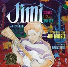 Book, HB Jimi Sounds like a Rainbow a Story of the Young Hendrix Music Guitar