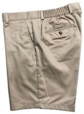 Roundtree & Yorke Mens Classic Fit Flat Front Shorts S75HR101 Khaki Size 40 x 7
