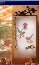 Rico Wandbehang Amselpaar  komplette Materialpackung Design 68178 vorgezeichnet