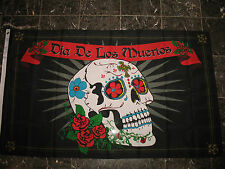 3x5 DIA DE LOS MUERTOS flag banner DAY OF THE DEAD HOLIDAY DECORATED SKULL 3'x5'