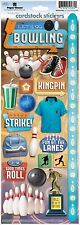 PAPER HOUSE LET'S GO BOWLING SPORTS CARDSTOCK SCRAPBOOK STICKERS