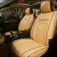 Universal PU Leather Car Seat Covers Cushions Pet Dog Mat Front Stitching Yellow