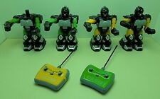 4 Black Series Cyber Battle Boxing Robots 2 Remote Controls For Parts Not Workin