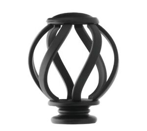 Home Decorators Swirl Cage Finials Matte Black Finish 2 Pack