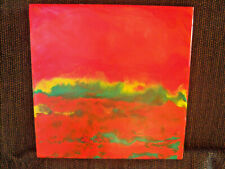 Arla Smith-Evanoff Abstract Encaustic Painting 2008 Clayboard Wood Frame 10x10