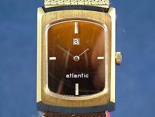 Vintage Retro Atlantic Swiss Mechanical gents Dress Watch NOS 1970s Old Stock
