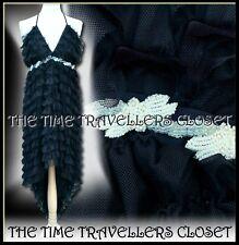 BNWT Kate Moss Topshop Black Tulle Ruffle Hi-Low Dress Luxury Ltd Edition UK 10
