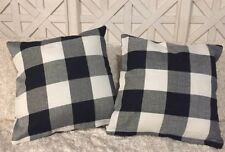 "New Buffalo Check Pillow Covers Plaid Farmhouse 18"" Home Decor Cushion Cover Set"