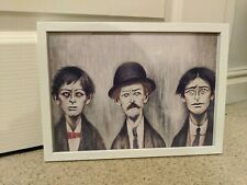 LS Lowry A Father and Two Sons a4 print