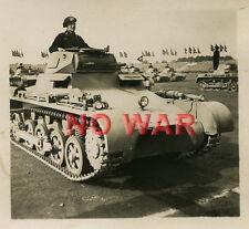 WWII ORIGINAL GERMAN PHOTO TANK'S CREW IN TANK / PANZER at parade in NUREMBERG