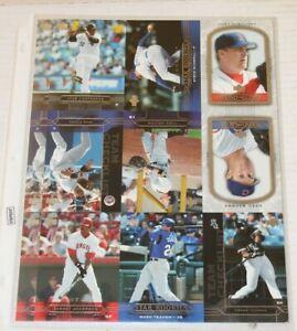 2005 Upper Deck Promo Uncut Baseball Cards Sheet Frank Thomas Greg Maddux Schill