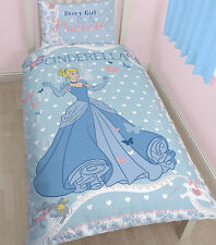 Disney Princesse Cendrillon Réversible Simple Ensemble de couette avec taies d'oreiller