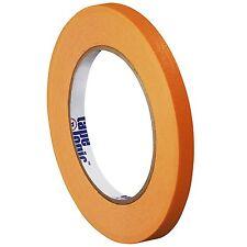 "Tape Logic Colored Masking Tape 1/4"" x 60 Yards 4.9mm, Orange, Case of 144 Rolls"