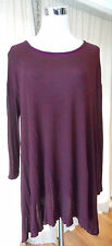 Pull & Bear Sz S Womens Maroon Red Knit Tunic Long Sleeve Pullover Top Shirt