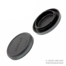 Micro 4/3 Body Cap & Rear Lens Cap for all M4/3 Lenses & Cameras. Olympus Lumix