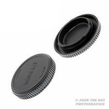 Micro 4/3 Body Cap & Rear Lens Cap for all M4/3 Lenses & Cameras. Olympus Lumix