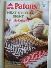 Patons Next Steps Knitting Book #8 Fair Isle Knitting