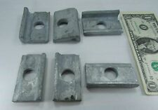 "Lot 3 Hot Dipped Galvanized Utility Cable Clamps 2.5"" x 1.7"" x 5/8"" Hole 003253"