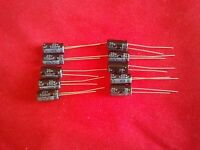 10PCS 100UF 100mfd 25V Electrolytic Capacitor 105 degrees + USA FREE SHIPPING