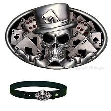 Skull Poker Skull Rockabilly Cube Joker Belt Buckle 492