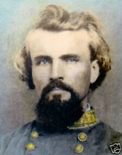 """GENERAL NATHAN BEDFORD FORREST CIVIL WAR 1862 8X10"""" HAND COLOR TINTED PHOTOGRAPH"""