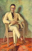 Bildnis Hauptmann H. Gustav Essig Kunstdruck von 1924