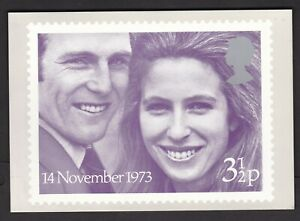 GB GREAT BRITAIN 1973 ROYAL WEDDING PHQ CARD USED FIRST DAY OF ISSUE