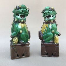 New listing Chinese Famille Verte Foo Lions, 20th Century