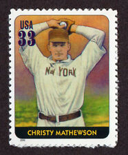 UNITED STATES, SCOTT # 3408-C, SINGLE STAMP OF CHRISTY MATHEWSON,BASEBALL LEGEND