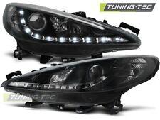 Headlights For PEUGEOT 207 05.06-06.12 DAYLIGHT BLACK..