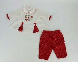 Okie Dokie Baby Girls Two Piece Christmas Pants & Shirt Top Outfit 3-6 Months