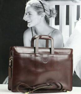 HARTMANN Vintage Leather Top Handle Briefcase Business Attache Bag Mens