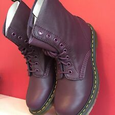 DR MARTENS Ladies Pascal Lace-Up Boots, Purple  uk 9 BRAND NEW WITH BOX