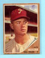 1962 Topps Baseball Card #46  Jack Baldschun  -- Philadelphia Phillies (EX)